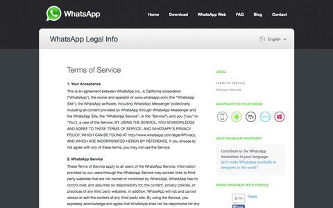 WhatsApp  :: Legal