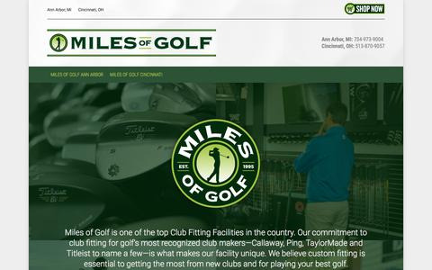 Screenshot of Home Page milesofgolf.com - Miles of Golf :: Golf World Top 100 Golf Store in Ann Arbor - captured Sept. 20, 2018