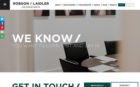 Screenshot of Contact Page robson-laidler.co.uk - Contact us & get in touch | Robson Laidler | Accountants in Jesmond - captured Oct. 21, 2019