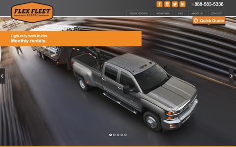 Screenshot of Services Page flexfleetrental.com - Flex Fleet Rental | Corporate Monthly Truck Rental | 4x4 Pickup Rental - captured Sept. 30, 2014
