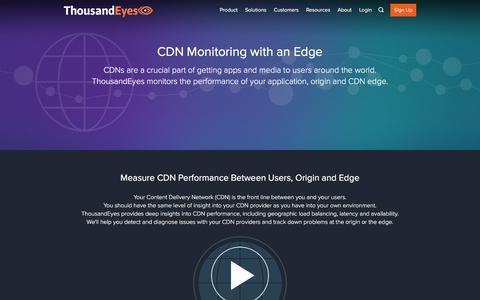 CDN Monitoring | ThousandEyes