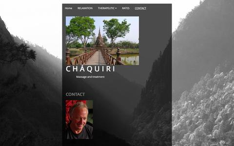Screenshot of Contact Page chaquiri.com - CONTACT - captured March 4, 2016