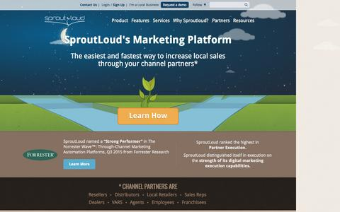 Screenshot of About Page sproutloud.com - SproutLoud | Marketing Resource Management Software - captured Oct. 22, 2015