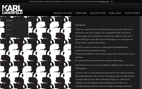 Screenshot of About Page karl.com - The Brand - Karl Lagerfeld - captured Sept. 23, 2014