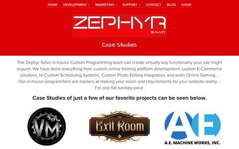 Screenshot of Case Studies Page zsalvo.com - Case Study | Zephyr Salvo - captured Dec. 3, 2016
