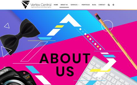 Screenshot of About Page vertexcentral.co.za - We are a Digital Marketing Agency that is in love with Digital! Find out more - captured Oct. 24, 2018
