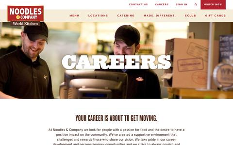Screenshot of Jobs Page noodles.com - Careers - Landing - Noodles & Company - captured Dec. 15, 2015