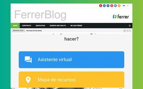 Screenshot of Blog ferrer.com - Ferrer Worldwide Blog   - captured Sept. 23, 2018