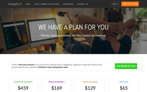 Screenshot of Signup Page chargify.com - Billing Plans for Startups and Small Businesses - Chargify - captured Dec. 17, 2014