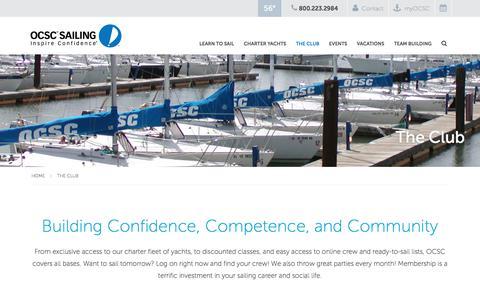 Screenshot of About Page ocscsailing.com - OCSC Sailing School | Club - captured Oct. 31, 2017