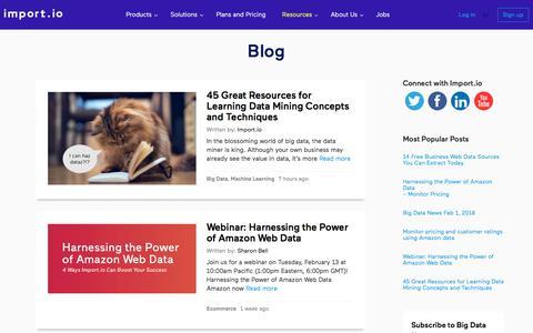 News Feed, Blog and Showcase - import.io