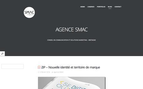 Screenshot of Blog agence-smac.com - Agence Smac - captured March 5, 2016