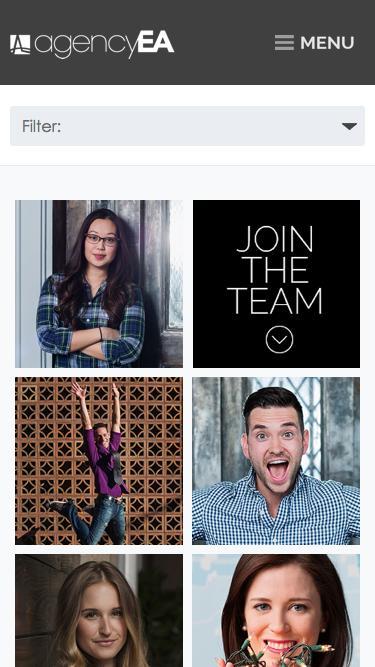 Screenshot of Team Page  agencyea.com - Meet the agencyEA Team