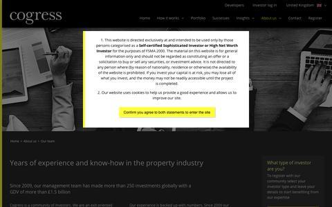 Screenshot of About Page Team Page cogressltd.co.uk - Our team | Cogress Ltd - captured Jan. 17, 2018