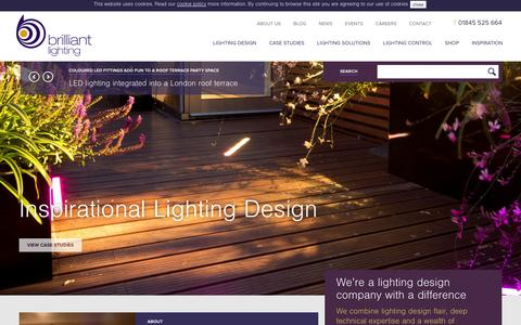 Screenshot of Home Page brilliantlighting.co.uk - We're a lighting design company with a difference | Brilliant Lighting - captured Oct. 5, 2014