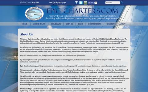 Screenshot of About Page epic-charters.com - About Epic Charters - captured Sept. 26, 2014