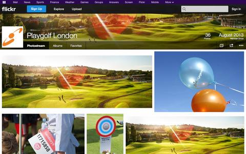 Screenshot of Flickr Page flickr.com - Flickr: Playgolf London's Photostream - captured Nov. 4, 2014