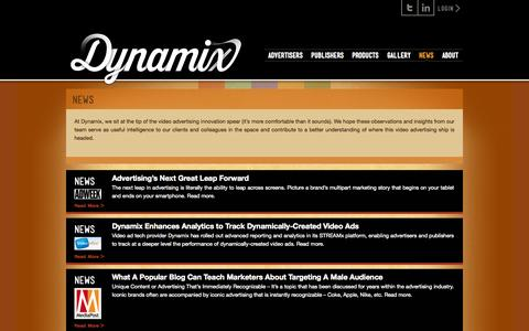 Screenshot of Press Page dynamix.tv - News «  Dynamix - captured Sept. 15, 2014