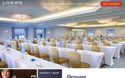 Corporate & Social Business Meeting Space | Loews Hotel and Resorts