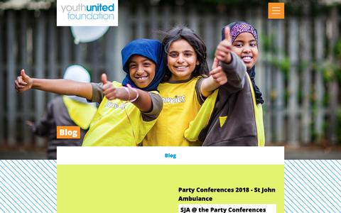 Screenshot of Blog yuf.org.uk - Blog – Youth United Foundation - captured Oct. 21, 2018