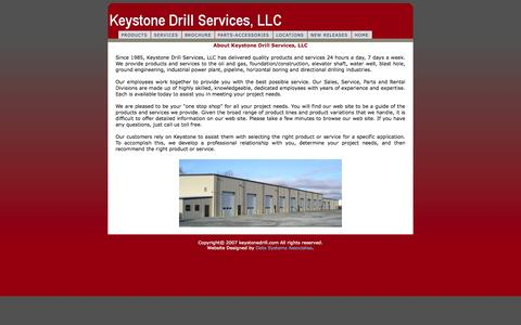 Screenshot of About Page keystonedrill.com - KeystoneDrill.com - captured Oct. 6, 2014