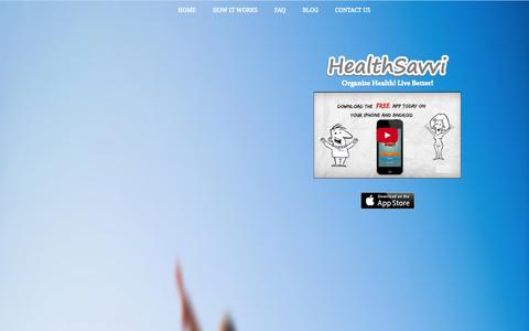 Screenshot of Home Page healthsavvi.com - HealthSavvi - Your Health Cloud   Manage Appointments, Track Medications & More - captured Sept. 29, 2014
