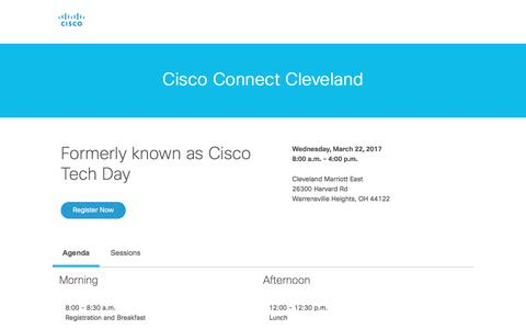 Screenshot of Landing Page cisco.com - Cisco - captured March 15, 2017
