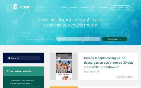 Screenshot of Blog clincshop.com - CLINC! – Insights sobre Mobile Commerce - captured Jan. 25, 2018