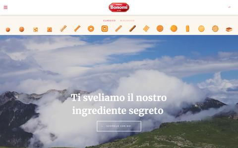 Screenshot of Home Page fornobonomi.com - Home Page | Forno Bonomi - captured Oct. 6, 2018