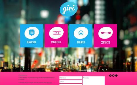 Screenshot of Home Page giri.com.uy - giri---ccc-y-mkt - captured Oct. 2, 2014