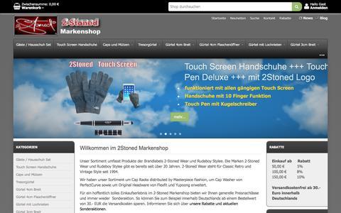 Screenshot of Home Page 2-stonedshop.de - 2-Stoned Markenshop - captured April 3, 2017