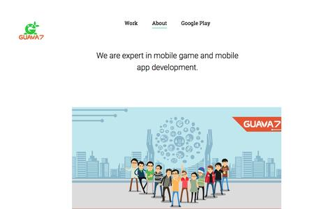 Screenshot of About Page guava7.com - Guava7 mobile development studio - captured July 19, 2016