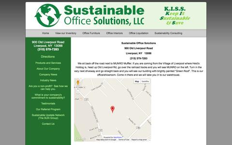 Screenshot of Maps & Directions Page sustainableofficesolutions.com - | Sustainable Office Solutions - captured Oct. 7, 2014