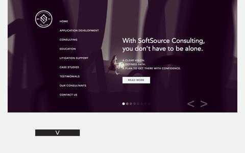Screenshot of Case Studies Page sftsrc.com - SoftSource | Case Studies - captured Oct. 6, 2014