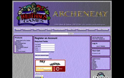 Screenshot of Signup Page crystalcommerce.com - Wild-Things - - captured Oct. 26, 2014