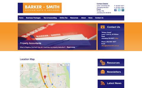 Screenshot of Maps & Directions Page barkersmith.com.au - Contact Barker Smith, Financial Solutions, Joondalup WA, Australia - captured Nov. 3, 2014