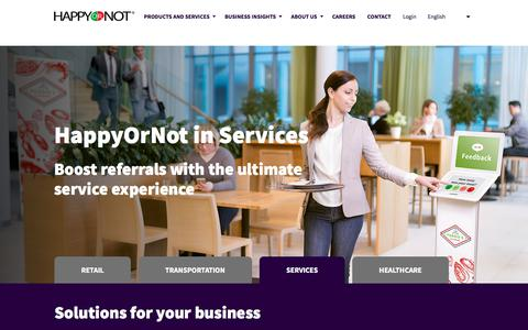 HappyOrNot in Services - Boost referrals with the ultimate service experience