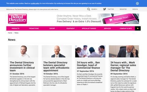 Screenshot of Press Page dental-directory.co.uk - The Dental Directory : News - captured Nov. 30, 2016
