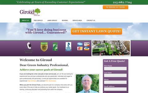 Screenshot of Jobs Page giroudtree.com - Careers | Giroud Tree and Lawn Service - captured Oct. 2, 2014
