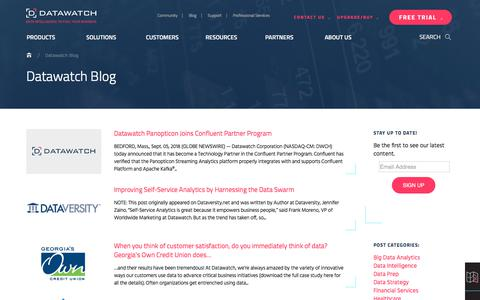 Screenshot of Blog datawatch.com - Datawatch Blog - Datawatch Corporation - captured Sept. 22, 2018