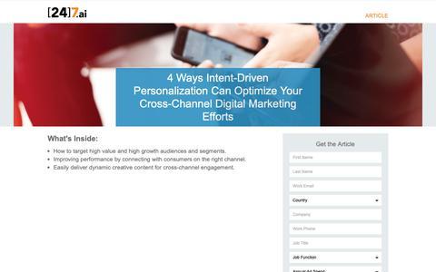 Screenshot of Landing Page 247.ai - 4 Ways Personalization Can Optimize Your Digital Marketing - captured Nov. 26, 2018