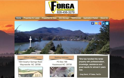 Screenshot of Home Page forgarentalproperties.com - Forga Rental Properties - captured Sept. 30, 2014