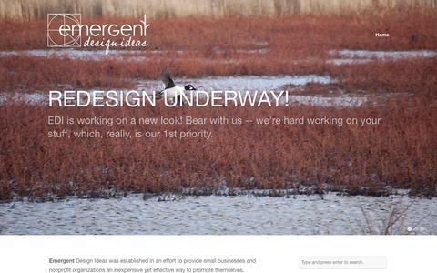 Screenshot of Home Page emergentdesignideas.com - Emergent Design Ideas - captured Sept. 29, 2014