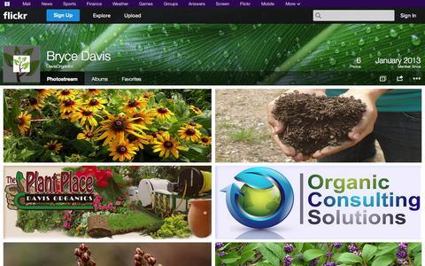 Screenshot of Flickr Page flickr.com - Flickr: DavisOrganics' Photostream - captured Oct. 23, 2014