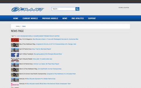 Screenshot of Press Page rideblue.com - News - captured Sept. 22, 2014