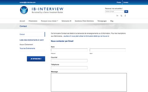 Screenshot of Contact Page ib-interview.com - IB Interview Contact - captured Sept. 30, 2014