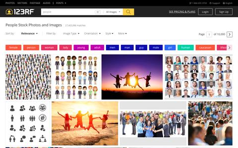 Screenshot of Team Page 123rf.com - People Stock Photos. Royalty Free People Images - captured July 30, 2018