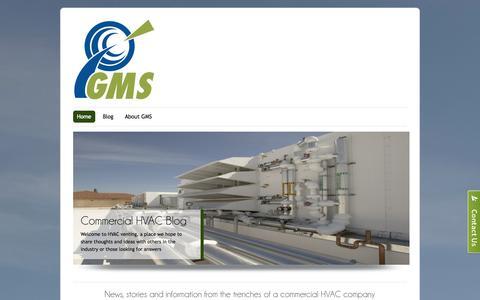 Screenshot of Blog gms-hvac.com - HVAC Venting | Keeping your HVAC running & your business comfortable - captured Oct. 2, 2014