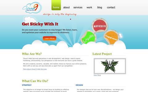 Screenshot of Home Page cloud9webservices.com - Website Development | Website Design | Search Engine Marketing | Branding | Cloud 9 Web Services - captured Sept. 30, 2014