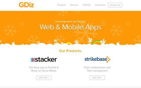 Screenshot of Testimonials Page gdiz.com - Web Development and Mobile Development - GDiz - captured Sept. 26, 2014